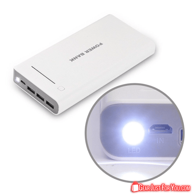 3 Port USB 50000 Mah Portable Power Bank Charger with Flash Light For Samsung iPhone - Gear Just For You.com