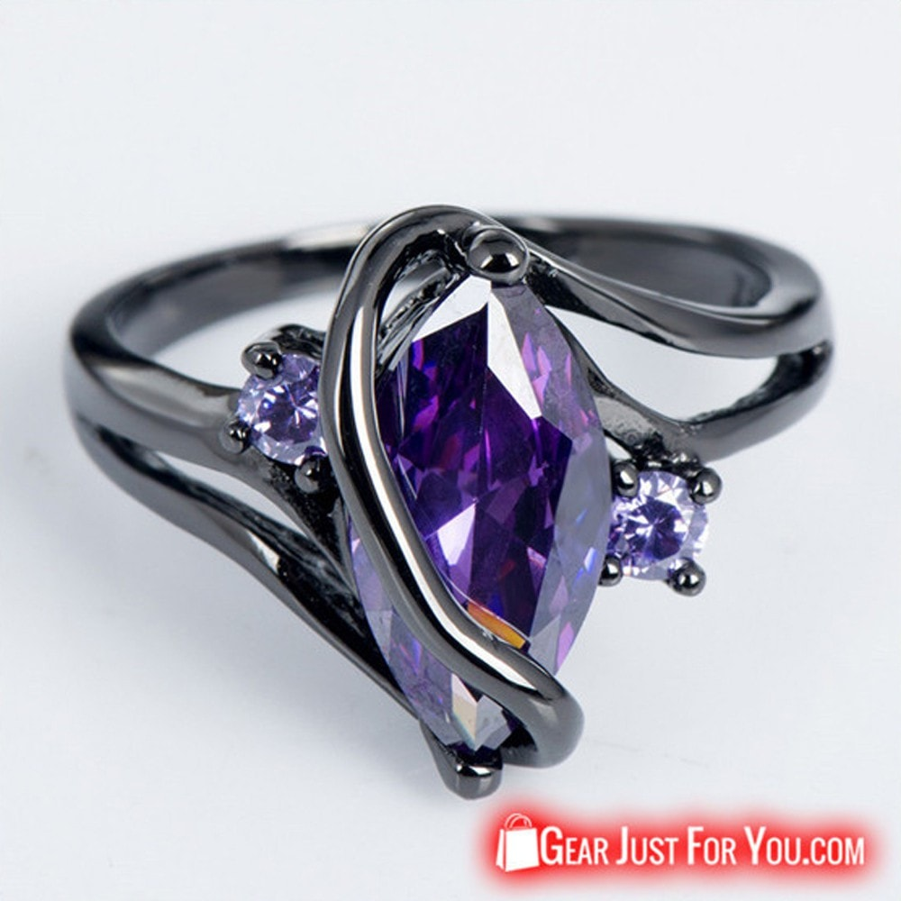 Elegant 14K Amethyst Sapphire Ring High End Accessory - Gear Just For You.com
