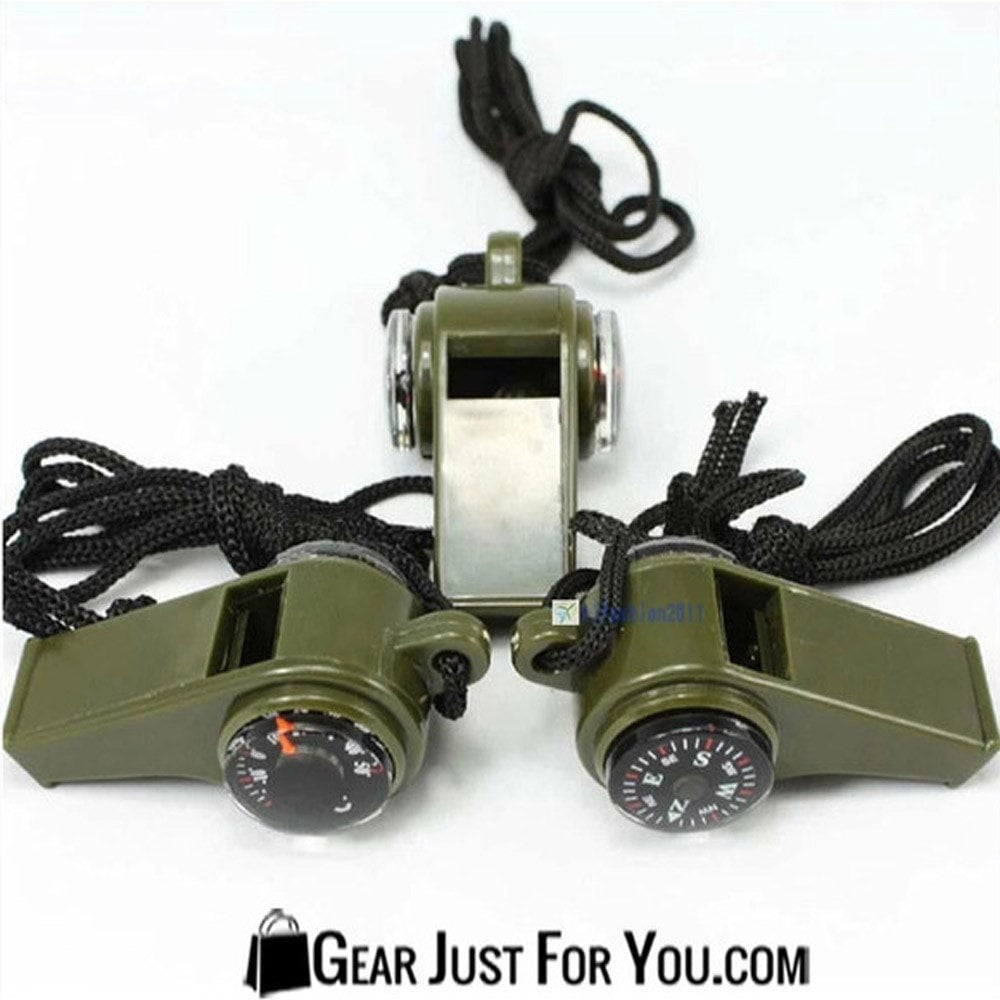 3 in1 Whistle Compass Thermometer For Outdoor Emergency Gear Hiking Survival - Gear Just For You.com
