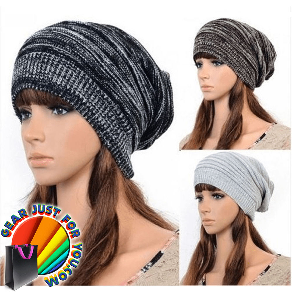 Unisex Most Amazing Knitted Oversized Baggy Beanie Ski Cap - Gear Just For  You.com b91e8d2b47c