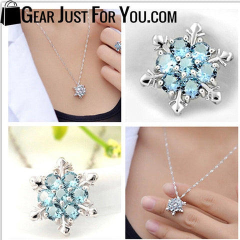 Charm Snowflake Frozen Flower 925 Silver Necklace - Gear Just For You.com