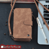 Smart Design Genuine Multifunction Leather Zipper Wallet Card Case Cover For Samsung + Strap - Gear Just For You.com