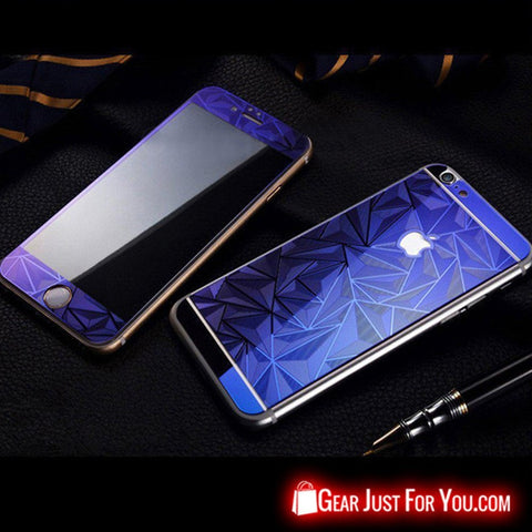 3D Diamond Tempered Glass Front & Back Screen Protector For iPhone - Gear Just For You.com