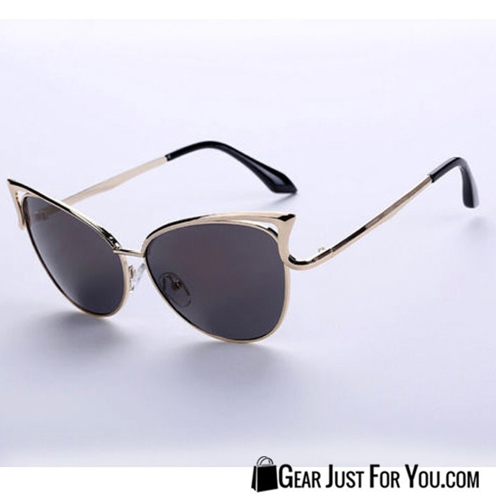 f1423b849f80ac Women s Cat Eye Metal Frame Sexy Outdoor Sunglasses - Gear Just For You.com