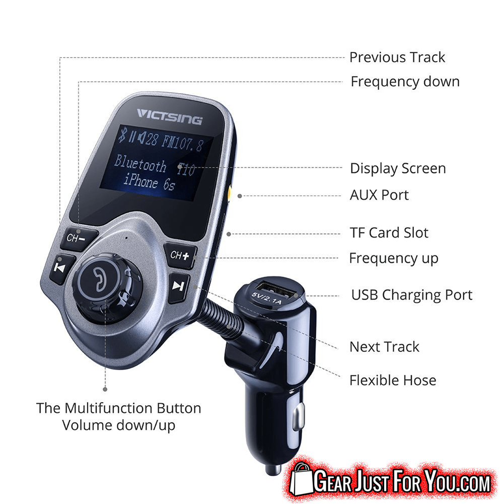 Better Sound Quality Wireless Bluetooth FM Transmitter - Gear Just For You.com