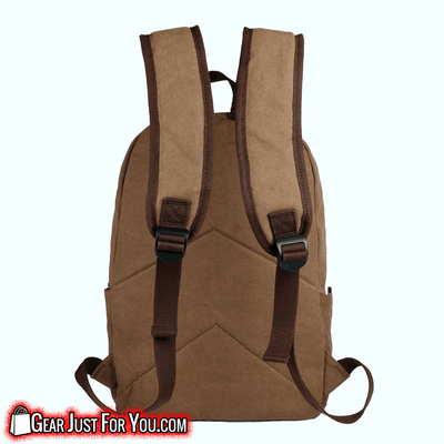 Most Durable Cotton canvas Genuine Leather zips Camping Laptop Backpack - Gear Just For You.com
