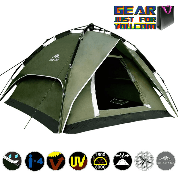 Classic Double Layer Waterproof Family Hiking Camping Instant Tent - Gear Just For You.com