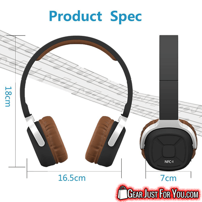 Great Stereo Sound Long BATTERY Life FOLDABLE Wireless Bluetooth SPORTS Headset with PEDOMETER