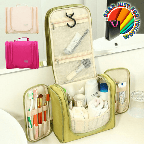 Innovative High Storage Multi-Compartment Waterproof Toiletry Organizer Travel Bag