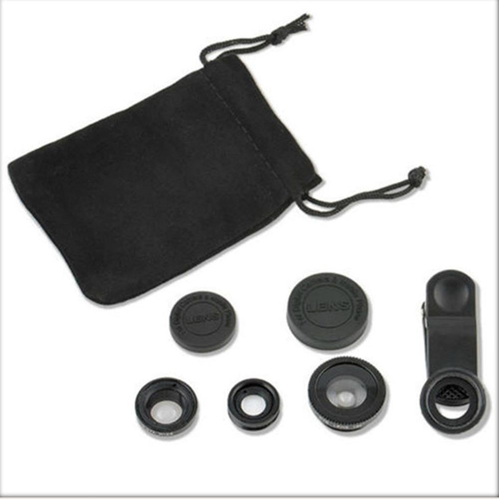 Universal 3in1 Clip On Camera Lens Kit Fisheye +Wide Angle +Macro for Cell Phone - Gear Just For You.com