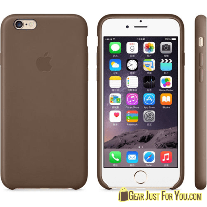 Genuine Elegant Soft Leather Back Cover Case for iPhone