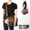 Genuine Leather Canvas Vintage Messenger Laptop Bag