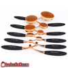 10 Pcs Ultra-Soft Seamless Oval Blending Rose Gold Foundation Makeup Brushes - Gear Just For You.com