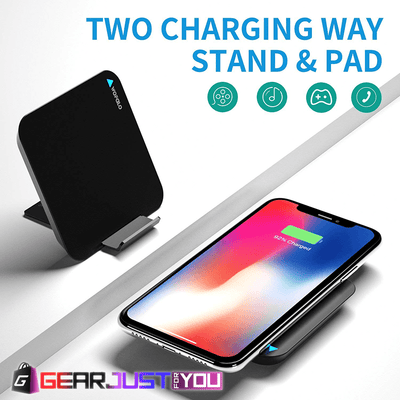 Ergonomic 2-in-1 Wireless Charging Pad Stand