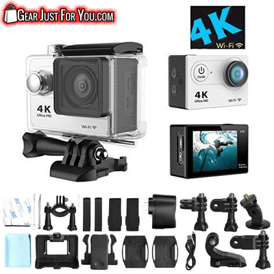 BEST Wifi Connectivity 30m WATERPROOF 6G Full HD 170° Wide Angle 4K Video Recording Sports ACTION Driving Camera - Gear Just For You.com