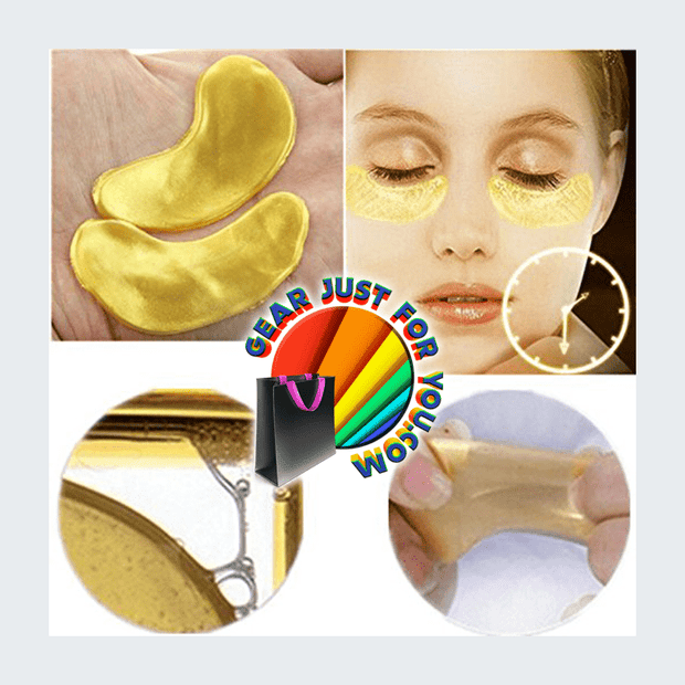 High-Quality 10 Pairs Crystal Collagen Eye Wrinkles Bags Dark Circles Reducing Gold Mask