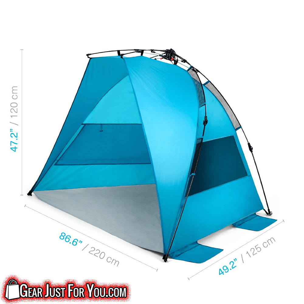 Full Protected BREATHABLE Polyester EASY-UP WATER Repellent LIGHTWEIGHT Compact Beach Tent  sc 1 st  Gear Just For You & Full Protected BREATHABLE Polyester EASY-UP WATER Repellent ...