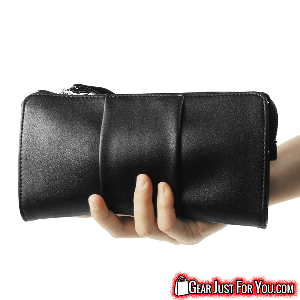Unique Butterfly Design Premium Soft LEATHER Modern Organizer Clutch - Gear Just For You.com