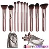 10Pcs Cruelty-Free Silky Soft Touch Luxurious Wooden Handle Makeup Brush Set