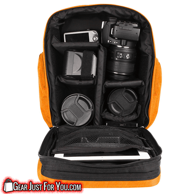 Classic Weather-Resistant High-Quality Compact DSLR Camera & Tablet Case Bag