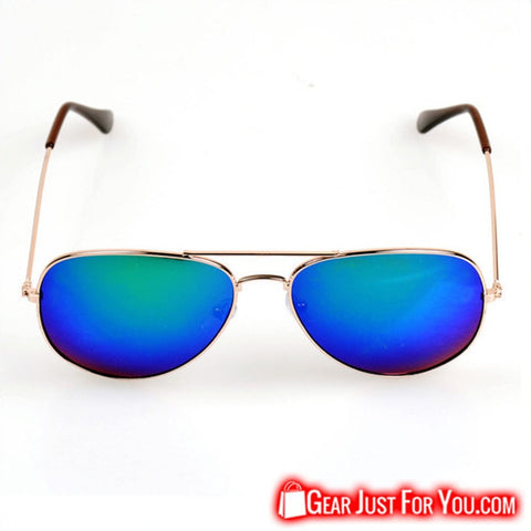 Retro Vintage Aviator Mirror Len Sunglasses For Men & Women - Gear Just For You.com