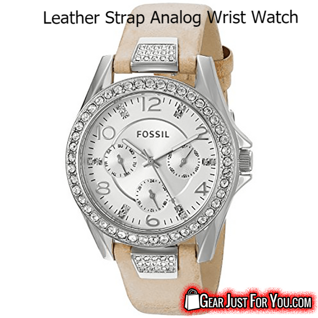 Classic Stainless Steel Analog Display Water Resistant Leather Strap Round Watch - Gear Just For You.com