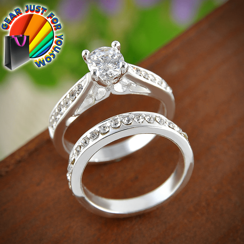 Most Attractive Charming Romantic Couple Engagement Wedding Crystal