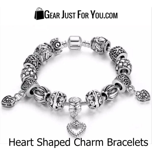 Authentic 925 Silver Hearts Charm Bracelet With Love Hearts - Gear Just For You.com