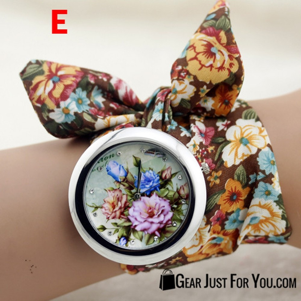New Design Fabric Flower High Quality Dress Women Watches - Gear Just For You.com