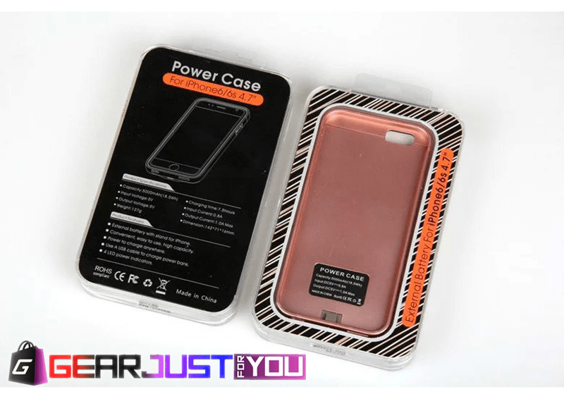 Ultra Slim External Battery Charger Case Power Bank for iPhone