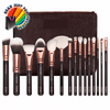 Exclusive 15 Pcs Powder Blending Rose Gold Complete Cosmetic Beauty Makeup Brush Set