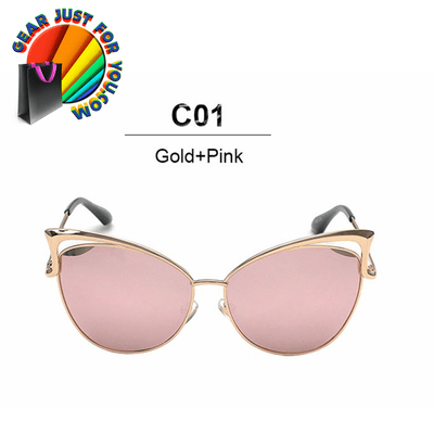Women's Cat Eye Metal Frame Sexy Outdoor Sunglasses