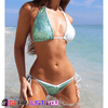 Gorgeous Sequin Triangle Push-Up Padded Women's Bandage Swimsuit Bikini Set