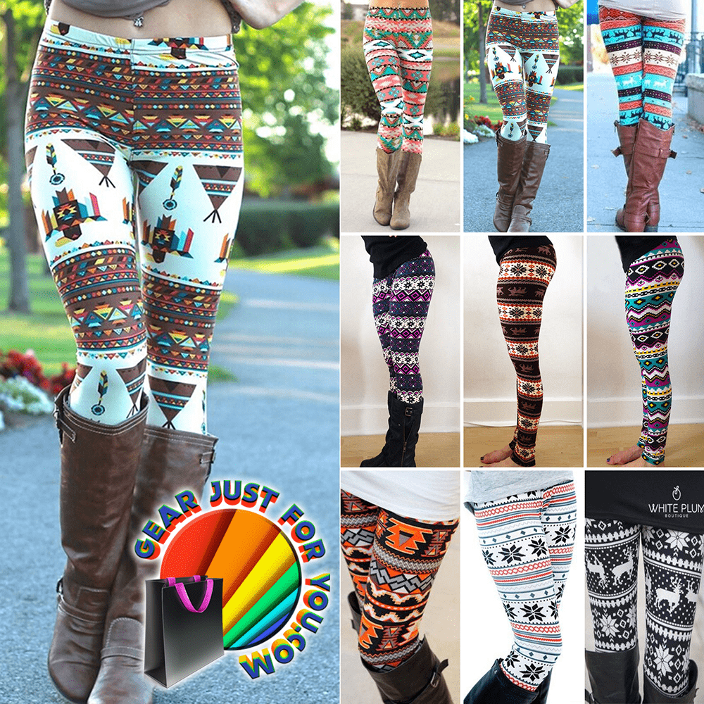 22b4fa351ac8ec Sexy Reindeer Striped Knitted Women's Skinny Winter Warm Leggings Pants - Gear  Just For You.