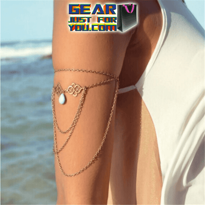 Hot Water Drop Zinc Alloy Bohemia Arm Chain Bracelet Necklace for Sexy Women - Gear Just For You.com