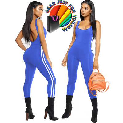 Super Comfortable Backless Athletic Jumpsuit