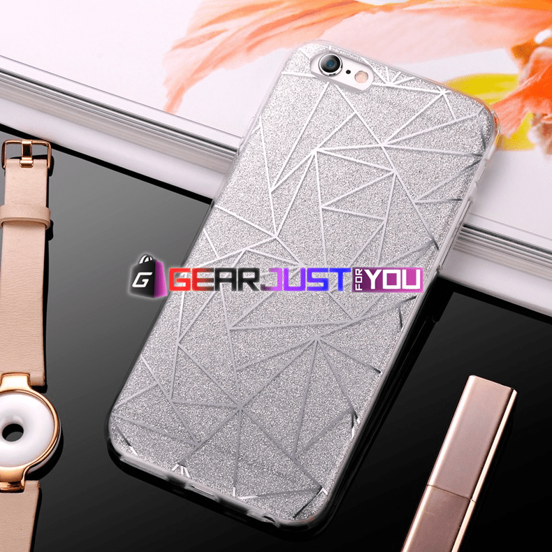 Elegant Bling Glitter Soft Silicone Dirt-Resistant iPhone Case Cover