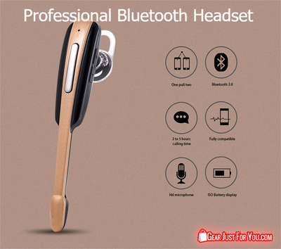 Business Style Ultrasonic HD Quality Universal Stereo Bluetooth Headset - Gear Just For You.com