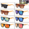 Image of Amazing Retro Designed UV Protected Unisex Rectangle Wooden Frame Sunglasses - Gear Just For You.com