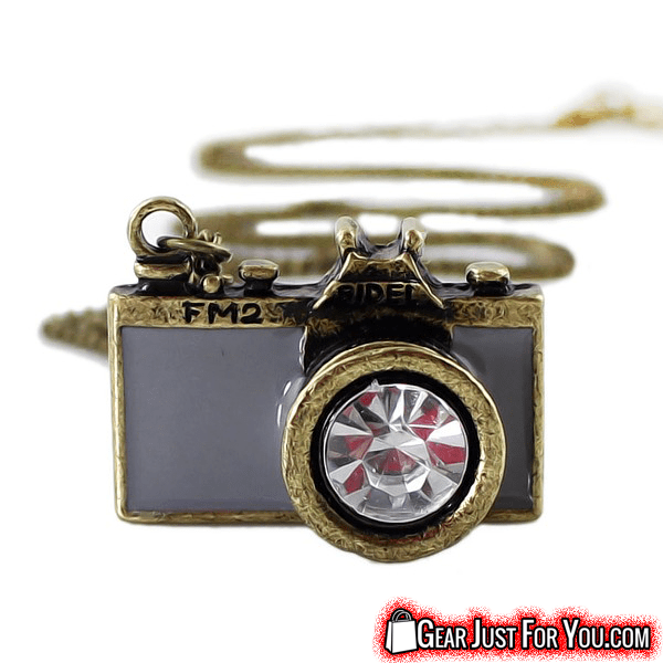 Vintage Antique Camera Design Colorful Long Chain Pendant Necklace - Gear Just For You.com