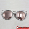 Image of Exclusive Sexy UV Protected Vintage Cat's Eye Women's Metal Mirror Shade Sunglasses