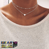 Beautiful Fishing Heart Multilayer Necklace
