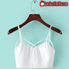 Sexy Cut-Out Strappy Crochet Cropped Women's Bandage Halter Bra Tops - Gear Just For You.com