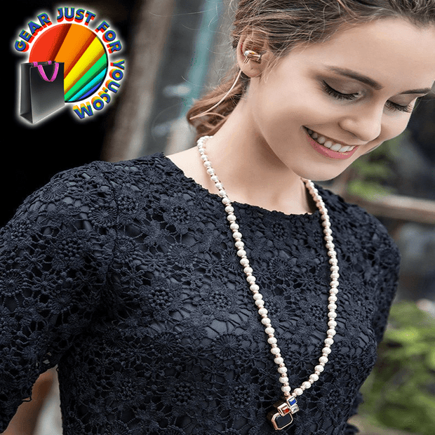 Amazing Pearl Necklace Wireless Bluetooth Stereo Headphone - Gear Just For You.com
