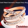 Classic Gold Plated Multi-Layer Spring Tack Geometric Shape Fashionable Party Ring - Gear Just For You.com