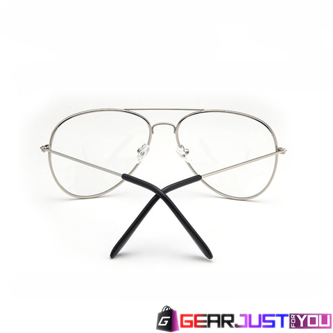 Stylish Unisex Transparent Pilot Rimmed UV Protective Optical Sunglasses - Gear Just For You.com