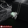 Most Attractive Silver Plated Elephant Shaped Stone Luminous Pendant Chain Necklace - Gear Just For You.com