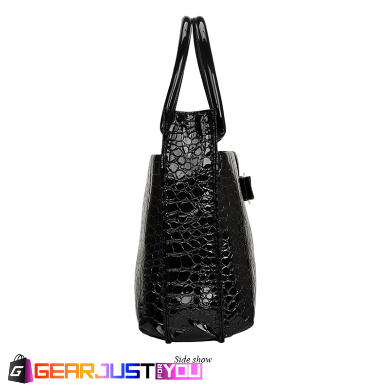 Fashionable Alligator Leather Metal Icon Durable Handbag for Women ... 8d74d8dceff5e