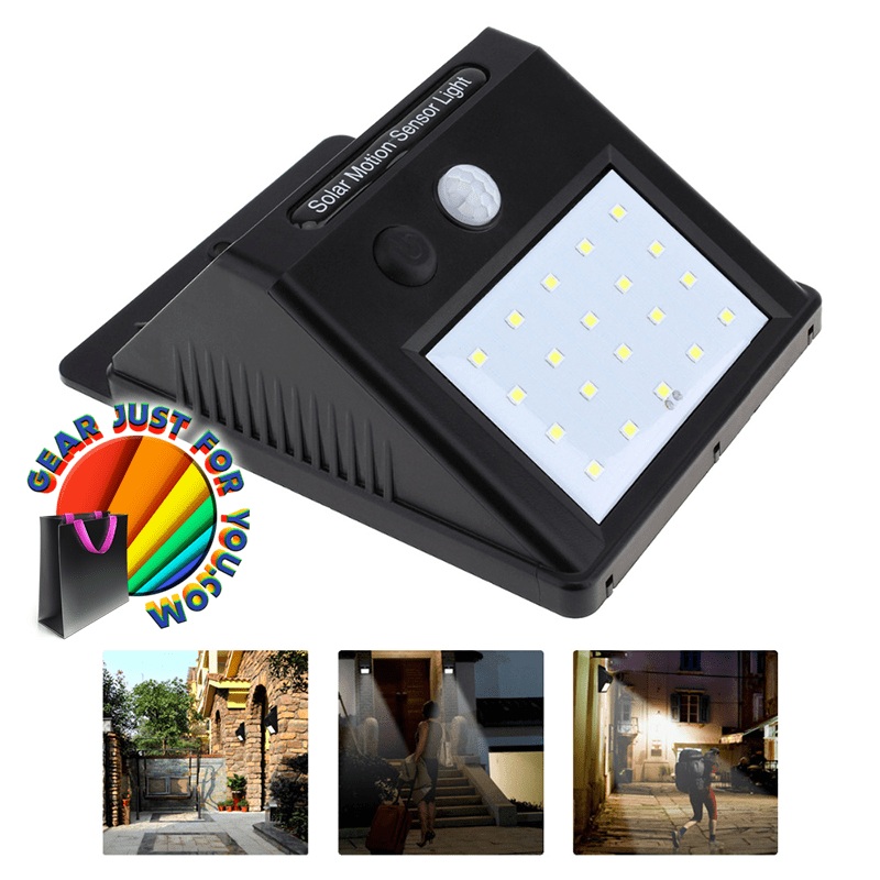 Amazing solar powered motion sensor waterproof wall security light amazing solar powered motion sensor waterproof wall security light no wiring needed easy installations aloadofball Choice Image