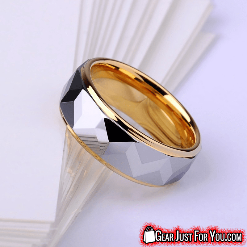 Perfect Fit Ultra-Comfortable Tungsten Mirror Polished Prism Design Scratch Resist Men's Ring - Gear Just For You.com